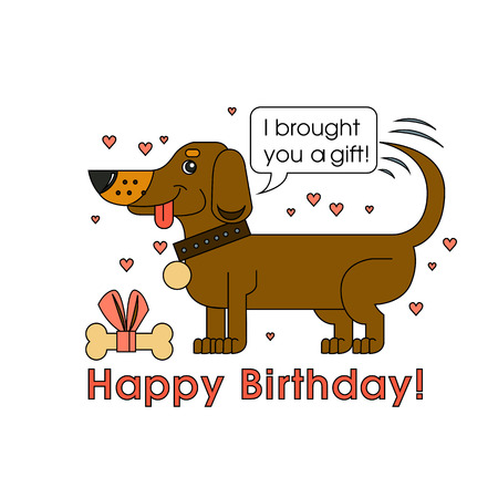 Happy Birthday Card For Dog Lover Happy Dog Of The Breed Of