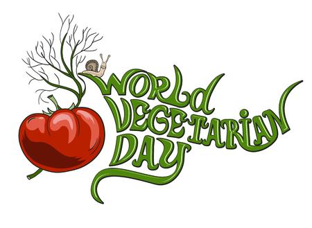 World vegetarian day Banco de Imagens