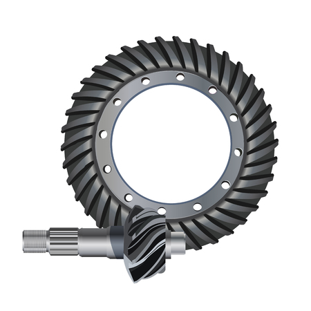 Illustration of the main gear icon. bevel gear. Stok Fotoğraf