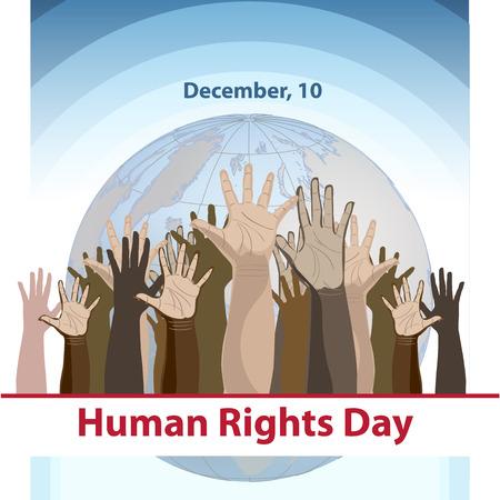 Illustration vectorielle de fond de la Journée des droits de l'homme.