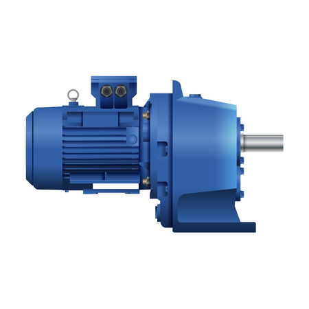 gearmotor with electric motor. drive technology. Engineering. isolated image
