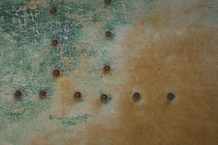 armour plating: metal surface
