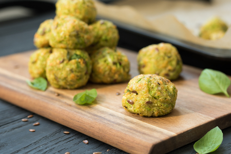 Vegetable balls with zucchini and Parmesan cheese Standard-Bild