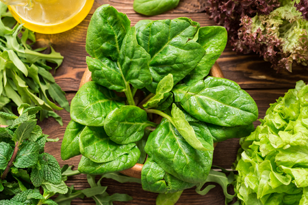 Composition of spinach and other homegrown greens
