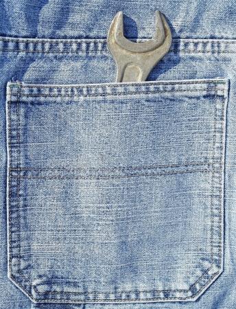 lug: Lug wrench in a pocket