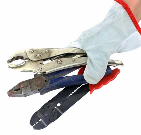 Tools in hand photo