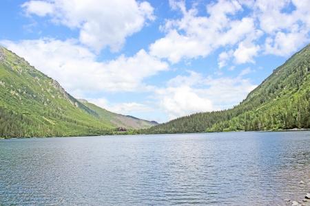 oko: mountain lake Morskie Oko in the Tatras, Poland Stock Photo