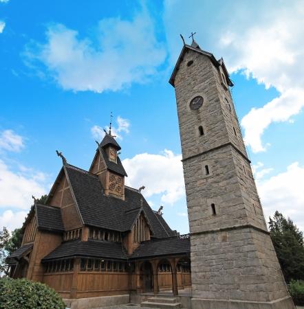 wang: Noruega Wang templo en Karpacz, Polonia Foto de archivo
