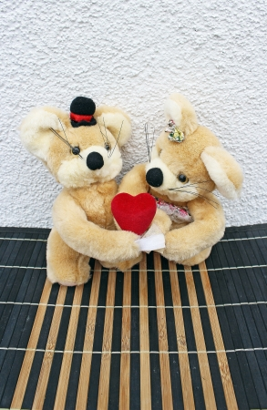 In love teddy bears photo
