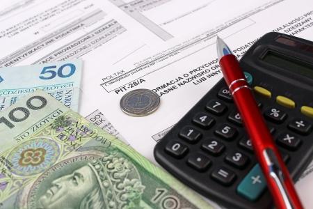 podatnika: Informacje dochody polskiego podatnika pit-28 Zdjęcie Seryjne