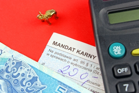 mandate: The mandate of the penalty in Poland  Stock Photo