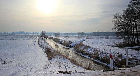 River in winter, Poland photo