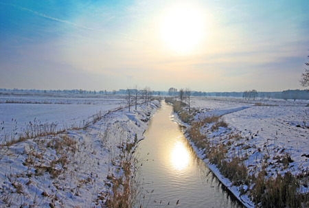 River in winter Poland photo