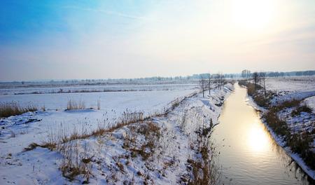 River in winter Poland photo
