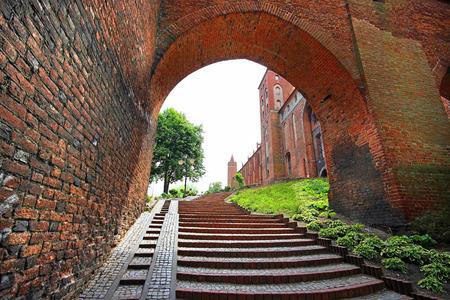 teutonic: Medievale castello teutonico in Kwidzyn, Polonia