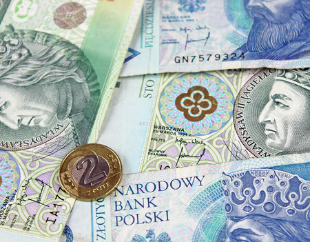 legal tender: Polish zloty (PLN) currency - banknotes and coins