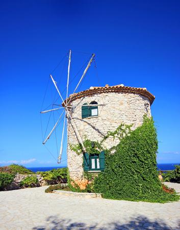 zakynthos: Old windmill on Zakynthos island, Greece