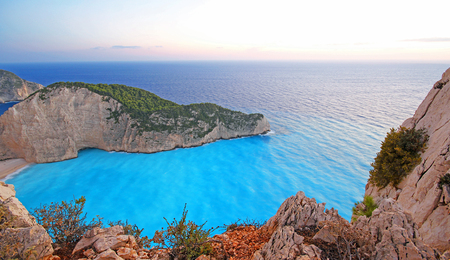 Navagio Beach (Shipwreck) on Zakynthos Island, Greece