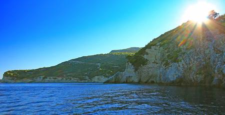 zakynthos: Cliff coast of Zakynthos Island. Greece Stock Photo
