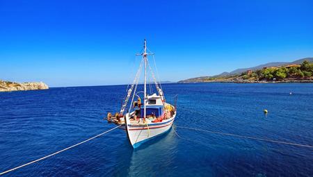 zakynthos: Fishing boat. Zakynthos, Greece Stock Photo
