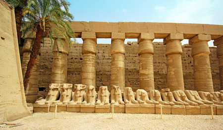 ruined: Anscient Temple of Karnak - Ruined Thebes Egypt
