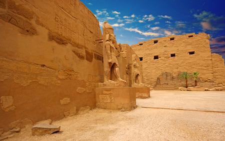 egyptology: Anscient Temple of Karnak - Ruined Thebes Egypt
