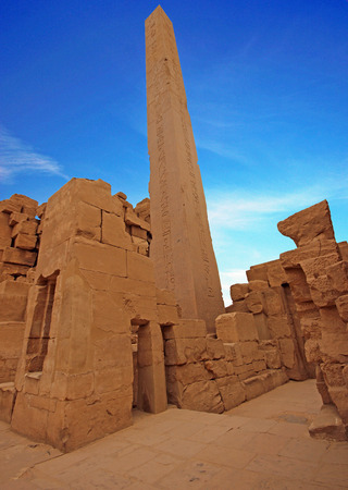 thebes: Anscient Temple of Karnak in Luxor - Thebes Egypt Ruined