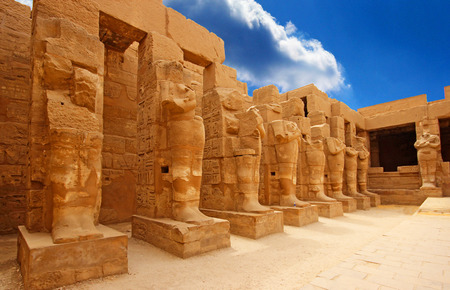 Anscient Temple of Karnak in Luxor - Thebes Egypt Ruined