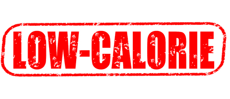 low-calorie on the white background, red illustration