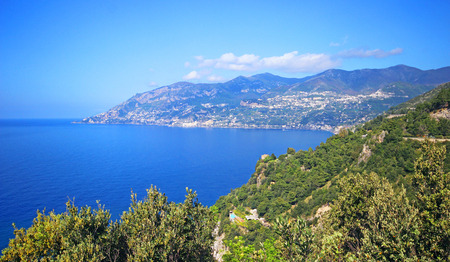 View of beautiful Amalfi coast. italy