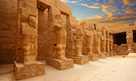 Anscient Temple of Karnak in Luxor - Ruined Thebes Egypt