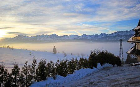 Beautiful winter scenery in Bukowina Tatrzanska Zdjęcie Seryjne