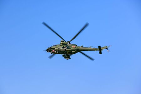 SWIDNIK / POLAND - JUNE 9 2019: Swidnik Air Festival - a military variant of the PZL W-3 Sokol (English: Falcon) - medium-size, twin-engine, multipurpose helicopter developed and manufactured by PZL-Swidnik (AgustaWestland) variant
