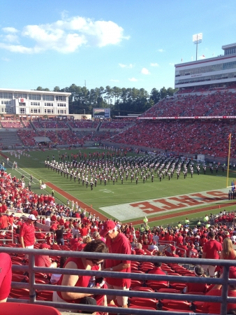 Band takes the field
