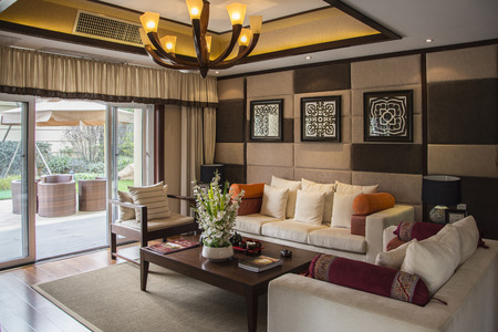 Chinese Living Room Stock Photo   34586194