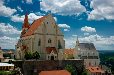 saintliness: Church of St  Nicholas and St  Wenceslas Chapel in Znojmo, South Moravia, Czech Republic