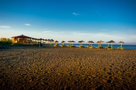 recreation area: Recreation area and beach on the island of Ada Bojana in Montenegro.