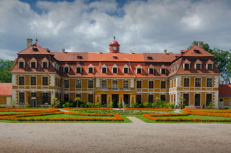 Classic Chateau Rajec nad Svitavou. A French-style classicist chateau built according to the plans of the French architect Isidor Amand Canavel. South Moravia, Czech Republic. Editorial