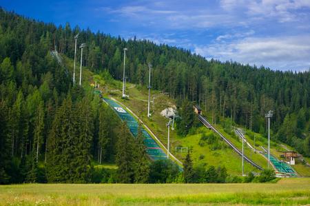 Sports complex in Ramsau am Dachstein. Banque d'images