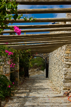 Campus monastery Profitis Ilias, Santorini island.