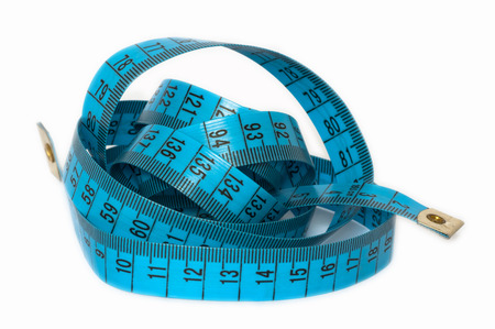 A measuring tape. Tailor help in sewing clothes.