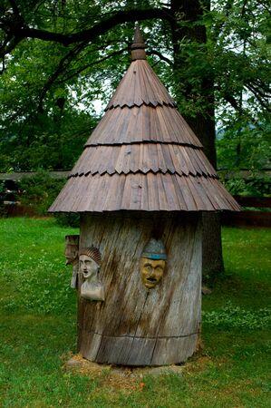 Ancienne architecture populaire en République tchèque, Beehouse. Banque d'images