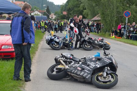 Do not eat one second. Preventative safety events for motorcyclists. Date of June 08, 2019 venue township Sloup, South Moravia, Czech Republic. Participate in this event traffic police, firefighters and paramedics.