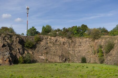 Helis Rock, the highest point of the Moravian Karst, altitude 613 meters. South Moravia, Czech Republic.