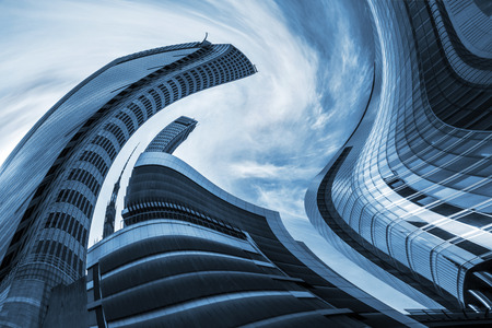 vertigo: Architectural Vertigo - Deformation of warsaw office buildings, scyscrapers variation