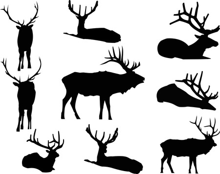 Elk Silhouette Animal Clip Art