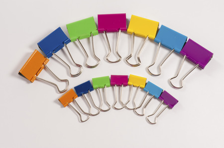 Colorful Clips brings the workplace alive.  Commercial use. Stock Photo