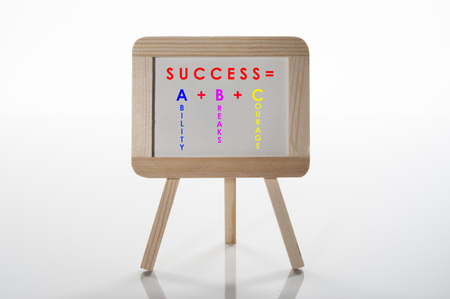 Success is ABC is a metaphor that success is derived from your Ability, Breaks and Courage.  Commercial use.