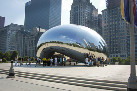 July 17, 2006, Chicago, Illinois, Cloud Gate in Chicago. Editorial use