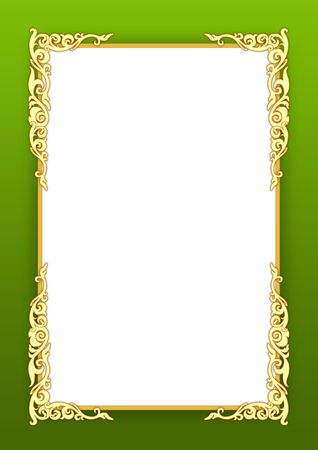Frame on green photo